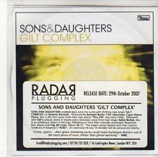 (EQ406) Sons & Daughters, Gilt Complex - 2007 DJ CD