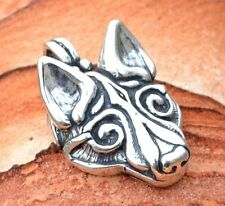 WOLF Celtic Viking Pendant Sterling Silver Necklace Jewel Charm Jewelry Wolves