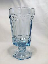 *NEW* Set of 8 vintage FOSTORIA light BLUE crystal glass VIRGINIA tea GLASSES