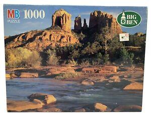 NEW Vintage Milton Bradley Big Ben 1000 Pc Puzzle Cathedral Rock Oak Creek AZ