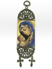 "Tapestry Madonna & Child Icon Banner Christ Mary 7""x2"""