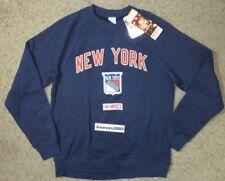 NWT CCM New York Rangers Fleece Crew Sweatshirt Sz Medium 100% Authentic CT5410