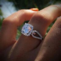 - geschenk schmuck crystal strass ehering weiße zirkon - ring silber - farbe
