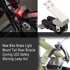 New Bike Brake Light Mount Tail Rear Bicycle Cycling LED Safety Warning Lamp ss