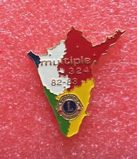 Pins LIONS CLUB Lioness 1982 1983 Multiple District 324 International
