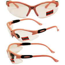 Safety Shop Glasses with Light Pink Frame and Clear Lenses
