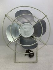 "Vintage Torcan 8"" Electric AC Fan All Metal Works  Green and White 1057"