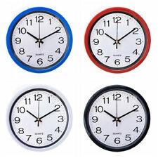 8 Inch Round Wall Clock, Silent Non Ticking,Quartz Battery Operate,Multicolor