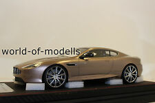 FrontiArt f026-49 Aston Martin db9 Champagne grey 1:18 NEUF avec emballage d'origine