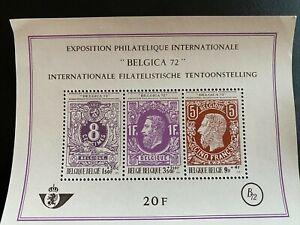 BELGIUM- 1970 - MNH - souvenir Sheet Y&T and COB Nr.48 - 3 STAMPS 1551/53