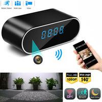 Alarm Clock Camera Clock WiFi Wireless Night Vision Security Nanny Cam 1080P~