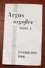 Argus Argoflex Model E Instruction Book/208323