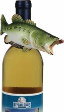 Bass Wine Bottle Hanger Fish Fishing Outdoors New Funny Fisherman Humor