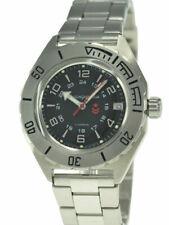 Vostok Komandirskie 650538 Watch Automatic Russian Wrist Watch Black New     Be