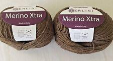 2 Balls - Berlini MERINO XTRA - DK wt - 100% Merino  yarn #4 Acorn