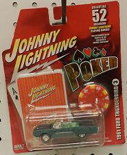 1961 61 FORD T BIRD THUNDERBIRD CONV GREEN POKER 3 CHIP JL JOHNNY LIGHTNING