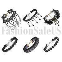 6pcs Vintage Gothic Lace Velvet Flower Retro Choker Collar Bib Necklace Jewelry
