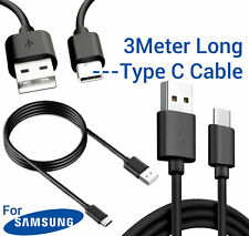 Samsung Galaxy S10 S10e S10Plus USB-C TYPE C 3M Long Charging Charger Lead Cable