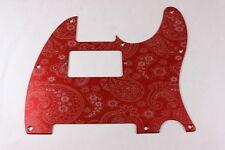 Red Anodized Paisley Aluminum Humbucking Tele Pickguard Fits Fender Telecaster