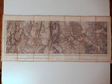 Carte ancienne 1883 XIX 19 siecle Vizille Sud vercors