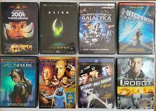 Lot of 8 Sci-Fi Dvds Alien Fifth Element 2001 Space Odyssey I Robot Aeon Flux