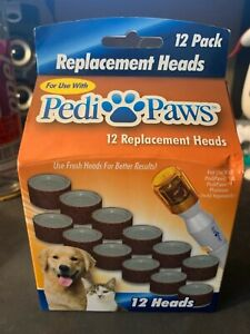 Pedipaws Replacement Filing Heads Dog Cat Nail Grinder 12ct New