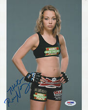 ROSE NAMAJUNAS SIGNED AUTO'D 8X10 PHOTO PSA/DNA UFC 192 TUF 20 FIGHT NIGHT I