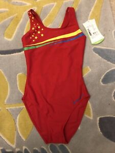 Red Star Aqua Sphere Swimming Costume Suit Size UK 10