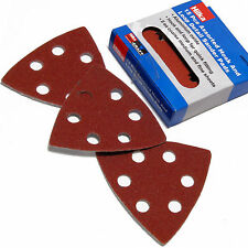 Detail Sanding Pads/ 90mm assorted Triangular hook & loop Sanding Pads