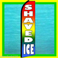 SHAVED ICE SWOOPER FLAG Food Concession Advertising Sign Feather Flutter Banner