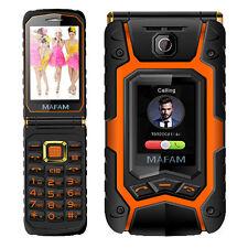 X9 Dual Screen Flip Cell Phone 2G Dual SIM Standby MIC Senior EU Plug For MAFAM