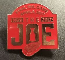 "DETROIT RED WINGS PIN ""THE JOE"" APRIL 9TH FINAL NHL GAME  STANLEY CUP CHAMPIONS"