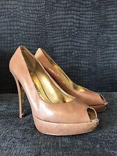 Ted baker tan peep toe shoes - scuffed - UK 6