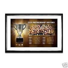 Hawthorn Football Club Half Premiership Cup History Framed