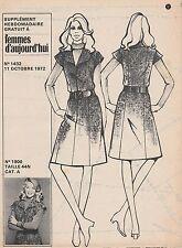 Patron Femmes d'Aujourd'hui N°1432 Robe chasuble 44 N  + chemise de nuit 9 ans