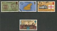 GUERNSEY 1974 UPU CENTENARY SET OF ALL 4 COMMEMORATIVE STAMPS USED