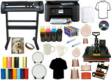 8in1 Combo Heat Press Dye Sublimation Printer 28 500g Laser Vinyl Cutter Plotter