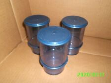 TUPPERWARE 3 VERRES TIMBALE BLEU AVEC COUVERCLE