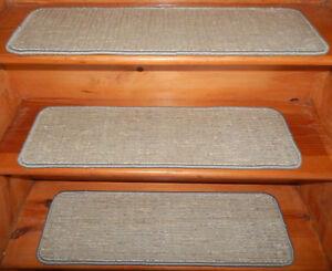 14 = Step = 9'' x 30'' + 1 Runner 23'' x 66'' Tufted carpet  Woven Silk.