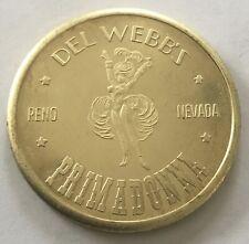 Del Webb's Primadonna Reno Nevada Showgirl Coin Medal