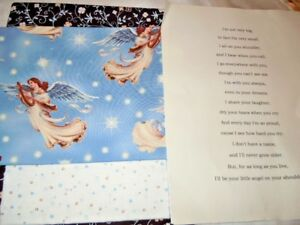 ANGELS Fabric Quilt Kit (Printed Fabric Poem and Fabrics included)