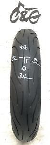 Michelin Pilot Power 2ct   120/70zr17 58w Part Worn Motorcycle Tyre 756
