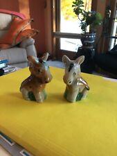 Vintage Japan horse/ donkey/ mule salt and pepper shakers