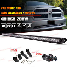 "For 2002-2008 Dodge Ram Single-Row 40"" Lower Bumper Grille LED Light Bar+ Wires"