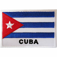 Cuba Flag Patch Iron / Sew On Cloth Jacket Jeans Bag Embroidered Caribbean Badge