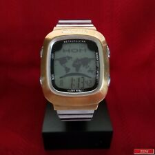 "Nixon ""The Metro"" (Stainless) 30M Japanese Movement w/ World Time in 52 Cities"