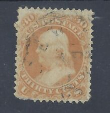 USA 1861 30c FRANKLIN USED  SG 67 (#2)