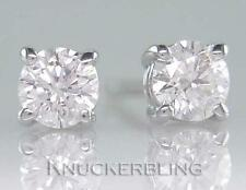 0.30ct F Colour Brilliant Cut Diamond Solitaire Stud Earrings in 18ct White Gold