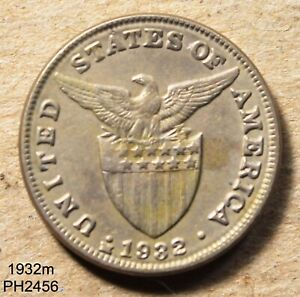 PHILIPPINES 5 Centavos 1932-M circulated FREE SHIPPING IN UNITED STATES