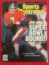 1988 NFL DENVER BRONCOS JOHN ELWAY AFC CHAMPIONS Sports Illustrated NO LABEL